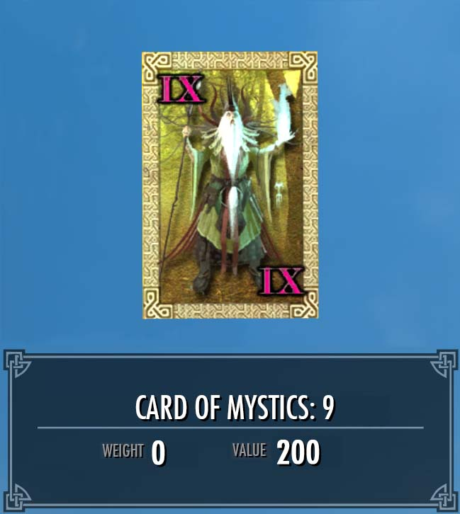 Card of Mystics: 9