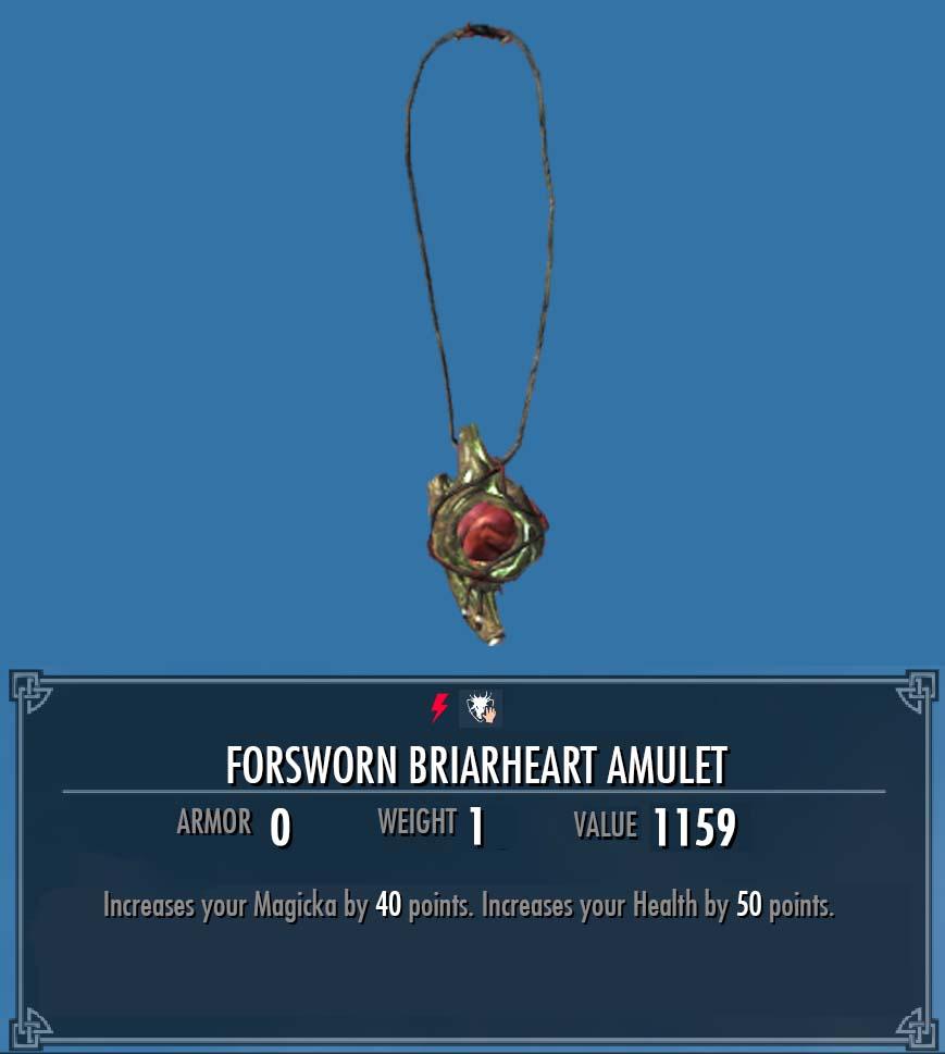 Forsworn Briarheart Amulet