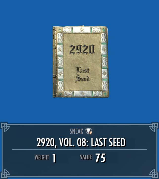 2920, Vol. 08: Last Seed