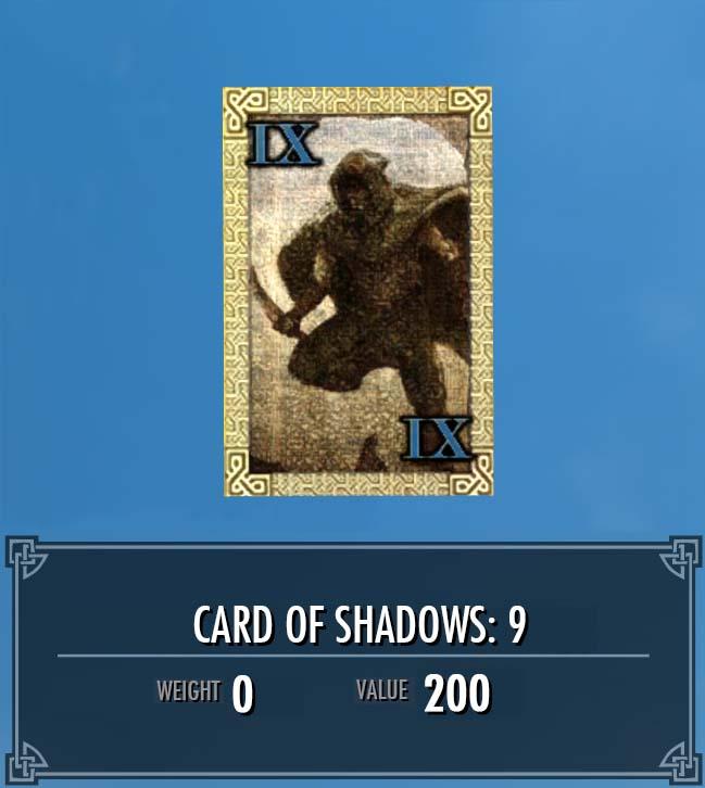 Card of Shadows: 9