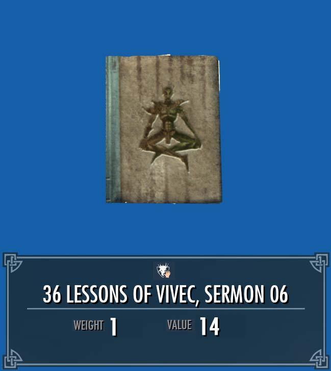 36 Lessons of Vivec, Sermon 06