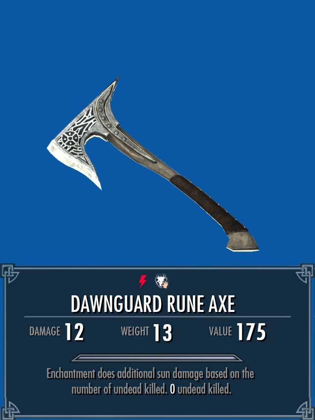 Dawnguard Rune Axe