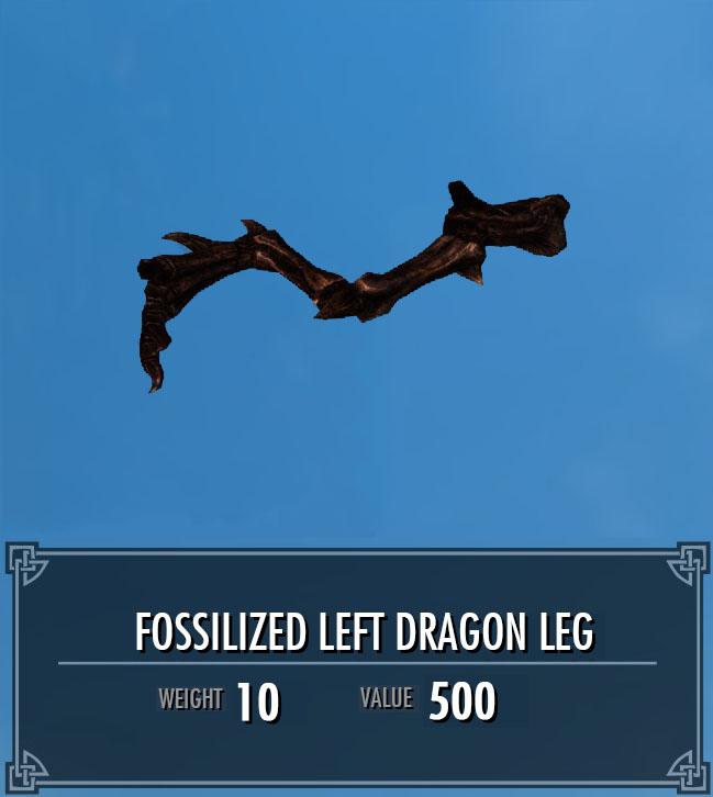 Fossilized Left Dragon Leg