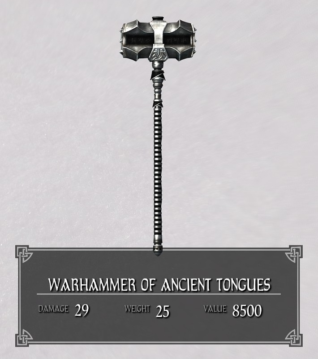 Warhammer of Ancient Tongues