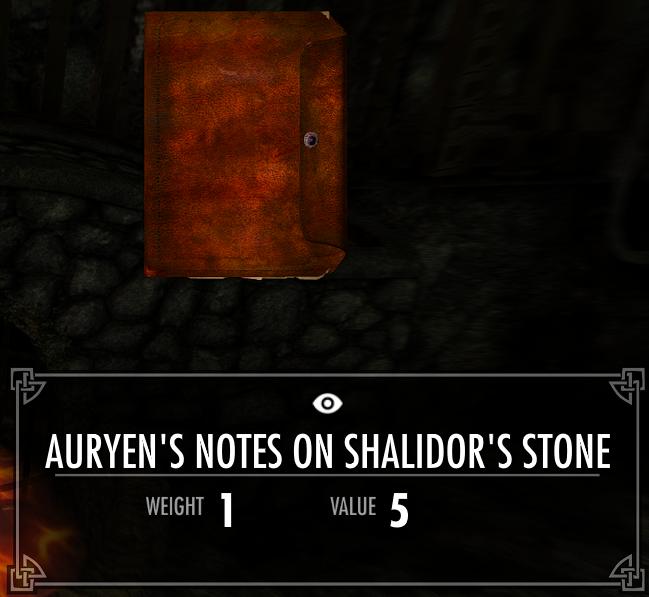 Auryen's Notes on Shalidor's Stone