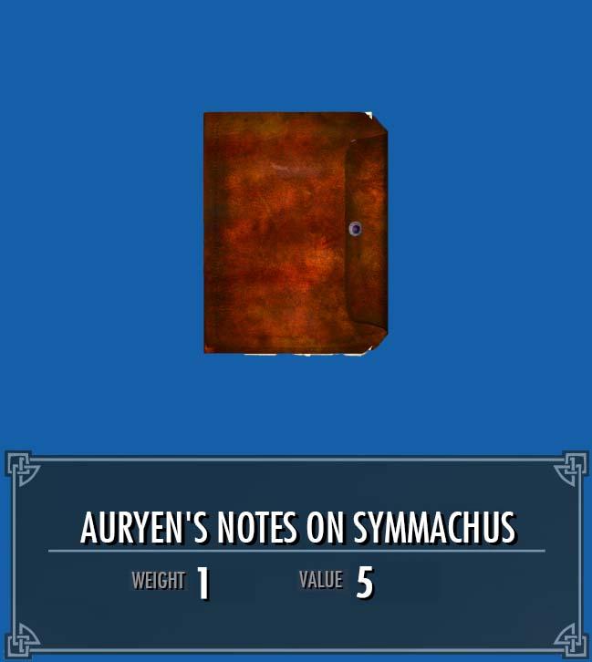 Auryen's Notes on Symmachus