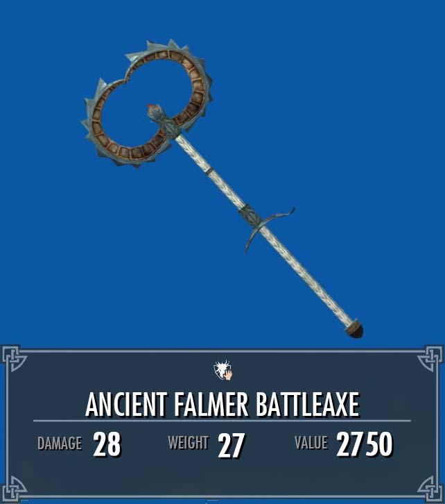 Ancient Falmer Battleaxe
