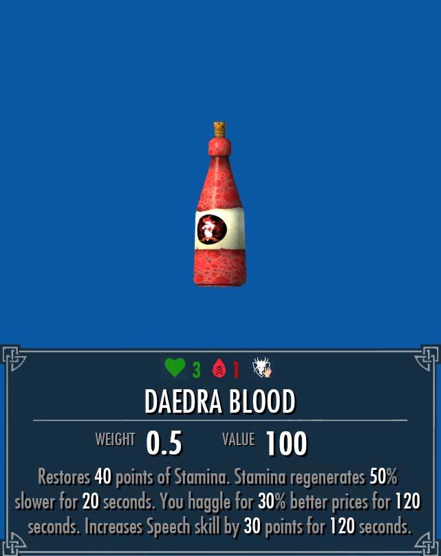 Daedra Blood