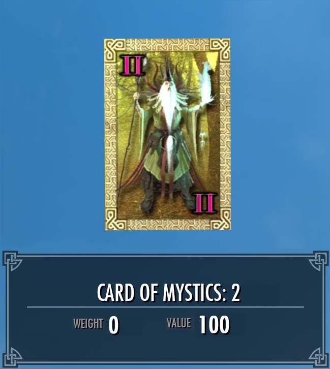 Card of Mystics: 2