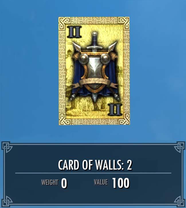 Card of Walls: 2