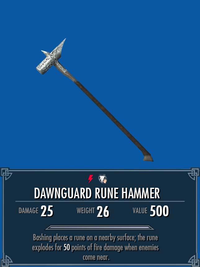 Dawnguard Rune Hammer