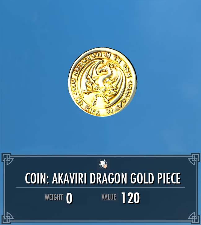 Akaviri Dragon Gold Piece
