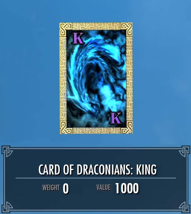 Card of Draconians: King
