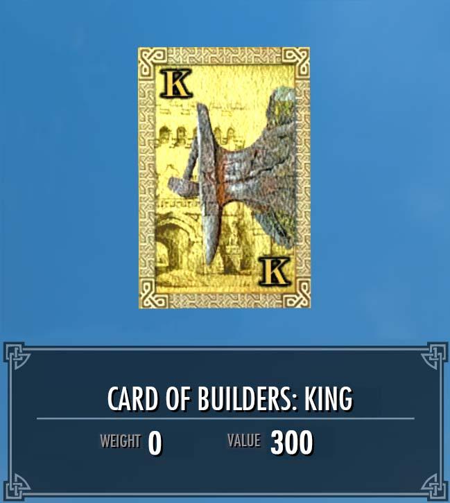 Card of Builders: King