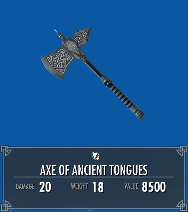 Axe of Ancient Tongues