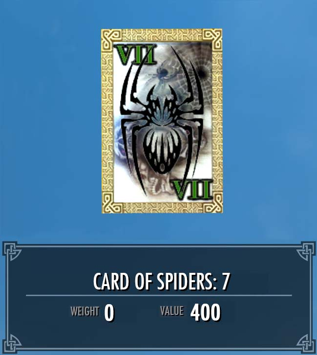 Card of Spiders: 7