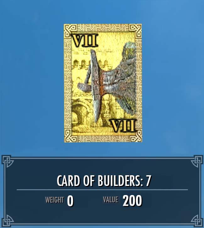 Card of Builders: 7