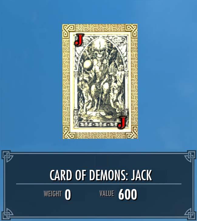 Card of Demons: Jack