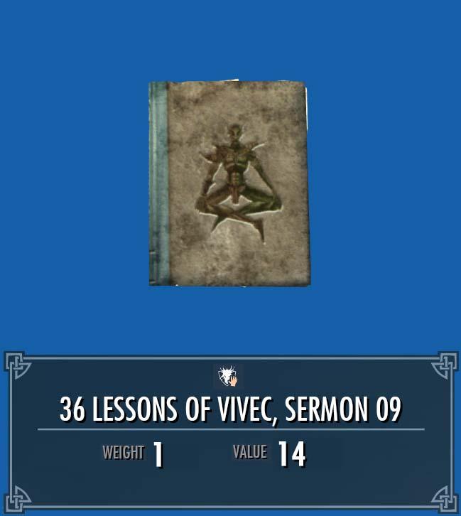36 Lessons of Vivec, Sermon 09
