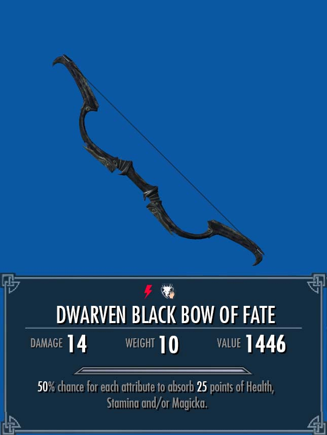 Dwarven Black Bow of Fate