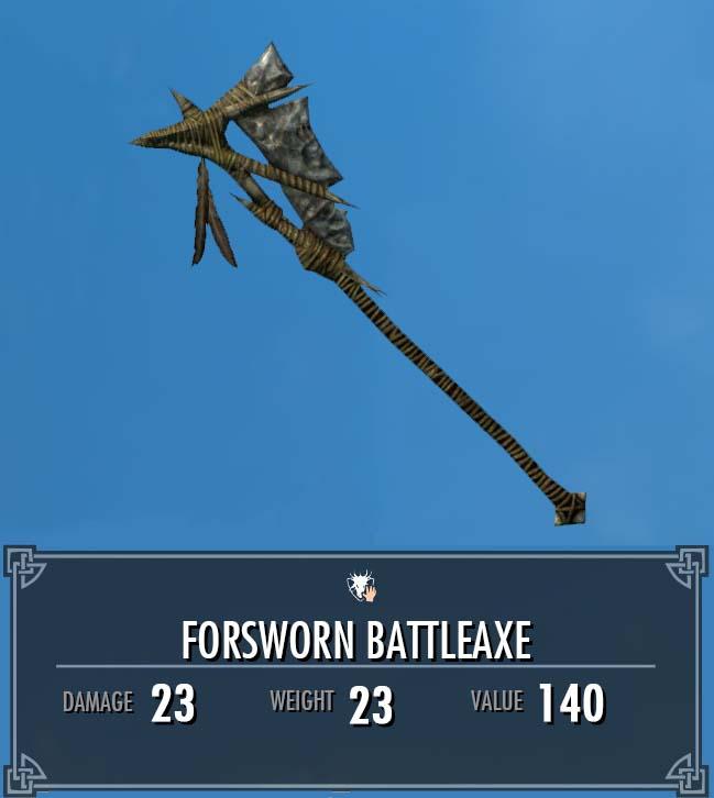 Forsworn Battleaxe