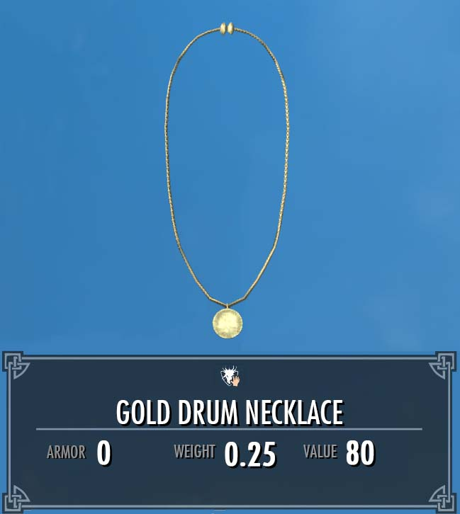 Gold Drum Necklace