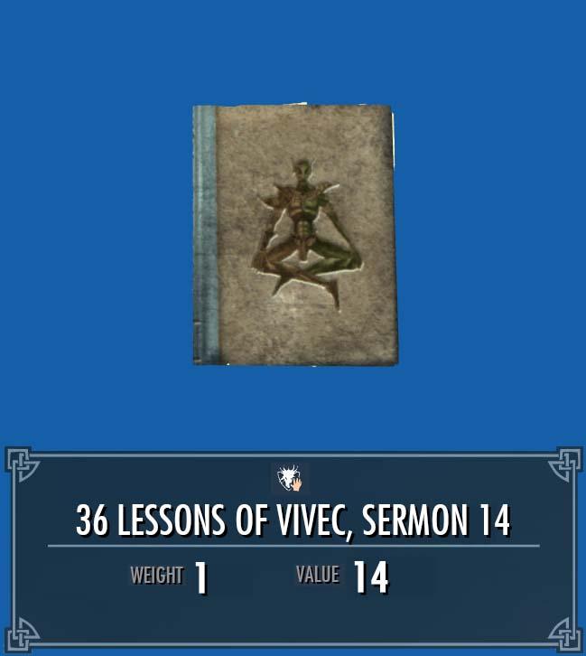 36 Lessons of Vivec, Sermon 14