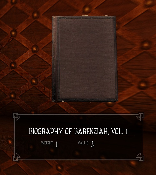 Biography of Barenziah, Vol. 1