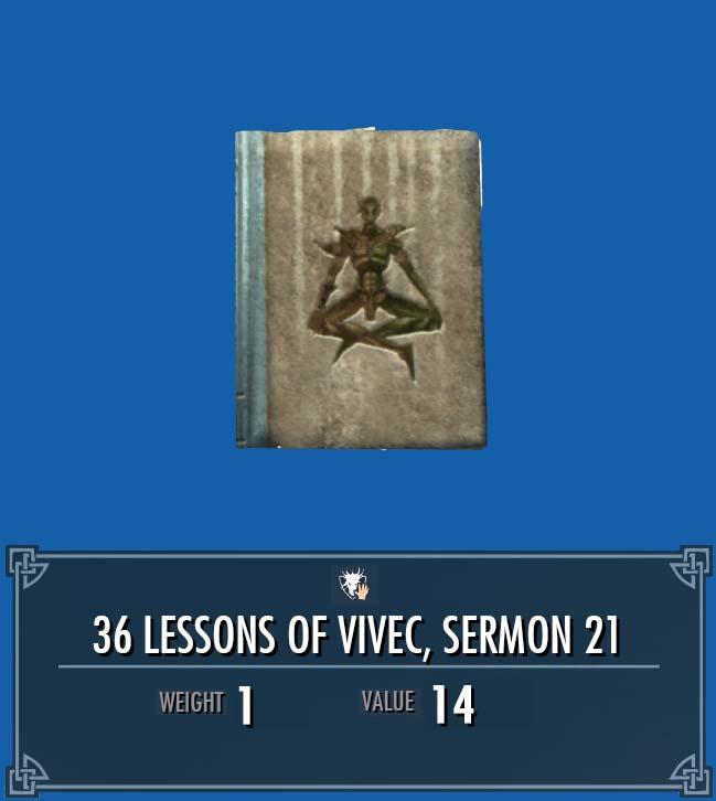 36 Lessons of Vivec, Sermon 21