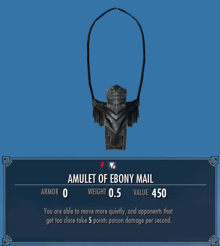 Amulet of Ebony Mail