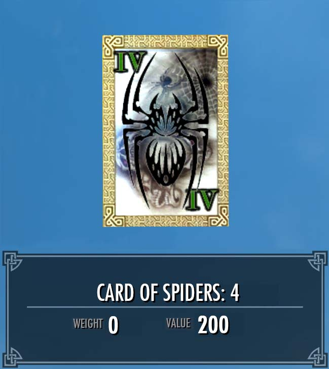 Card of Spiders: 4