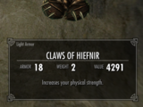 Claws of Hiefnir