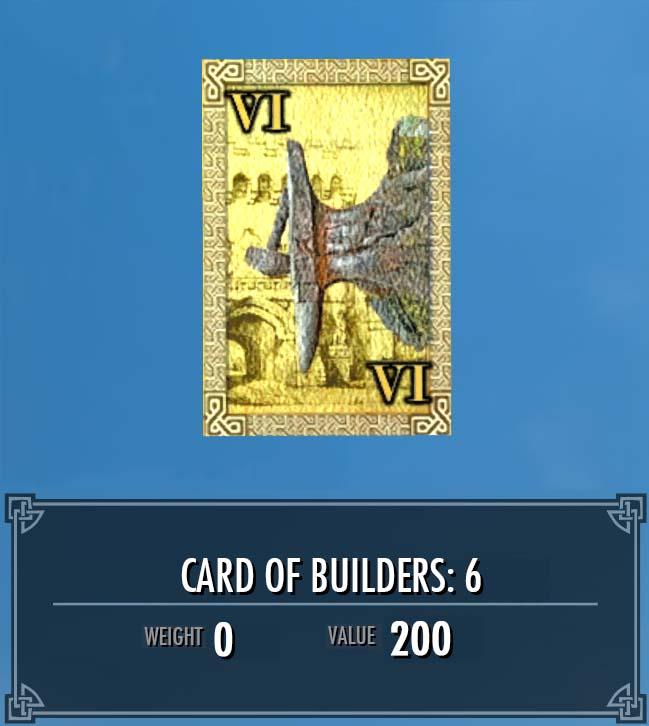 Card of Builders: 6