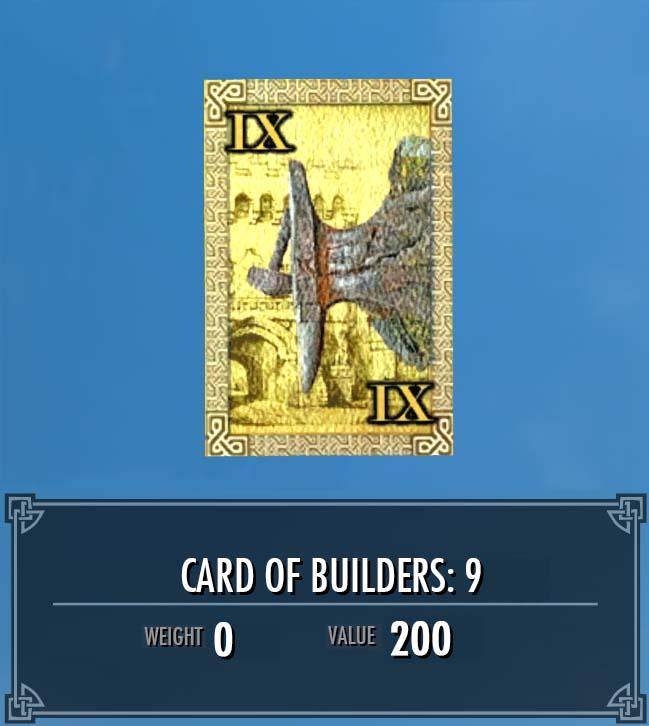 Card of Builders: 9