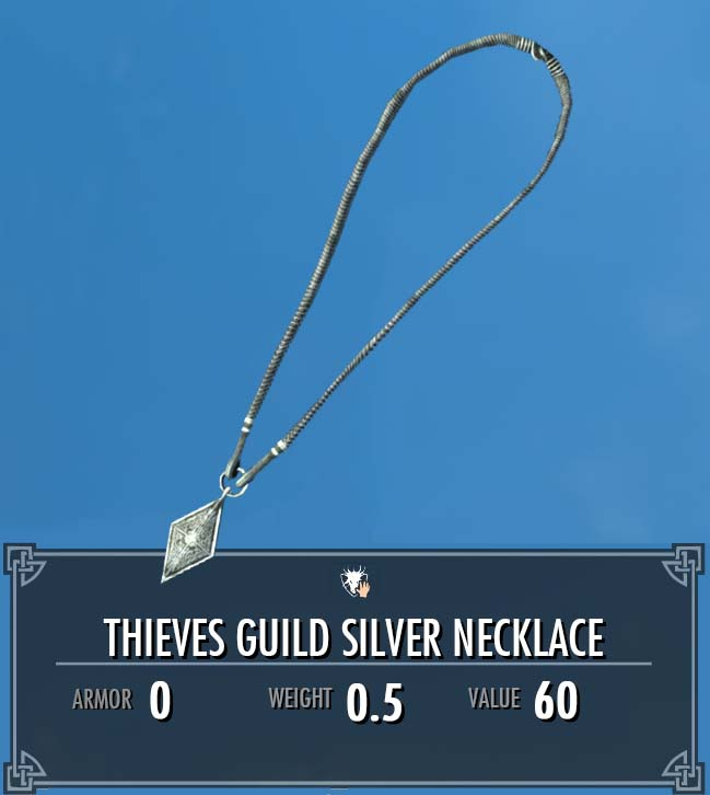 Thieves Guild Silver Necklace