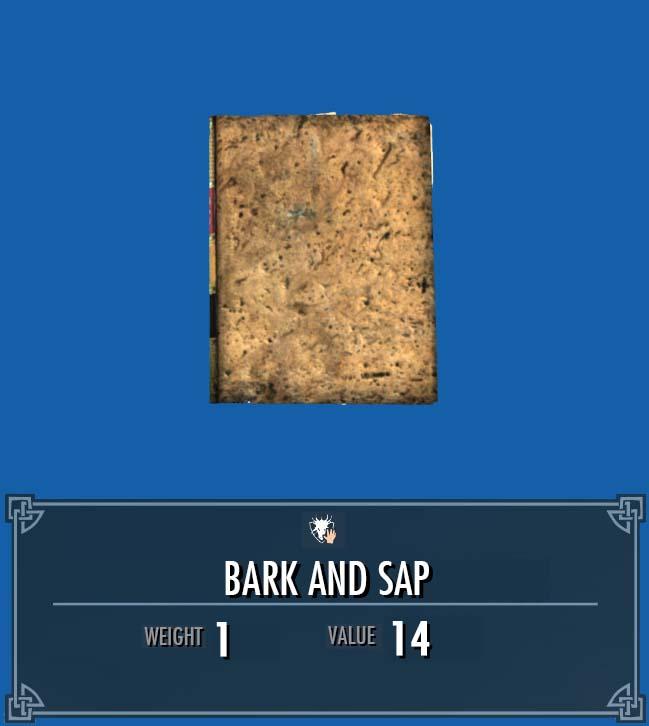 Bark and Sap