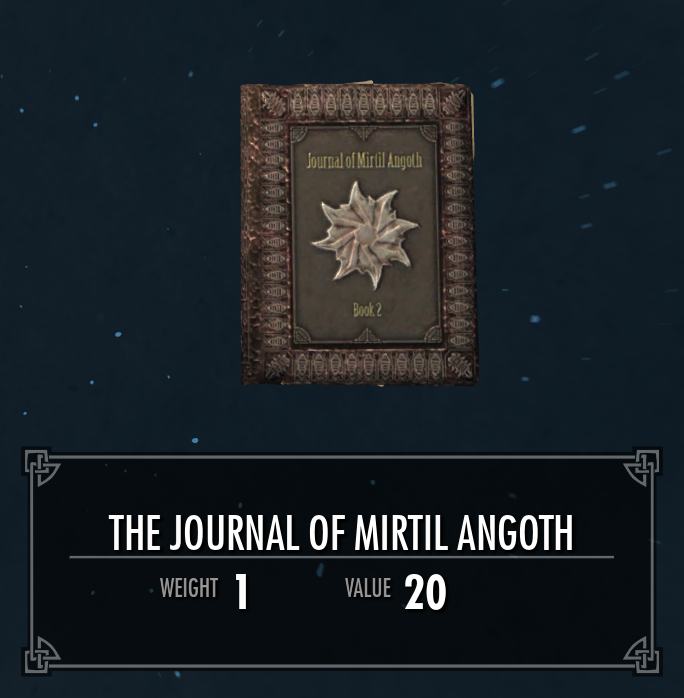 The Journal of Mirtil Angoth