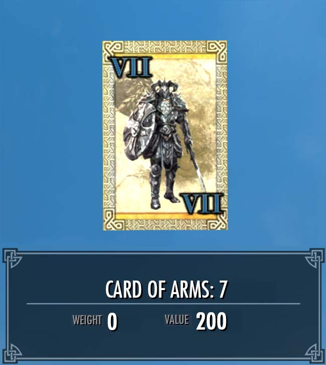Card of Arms: 7