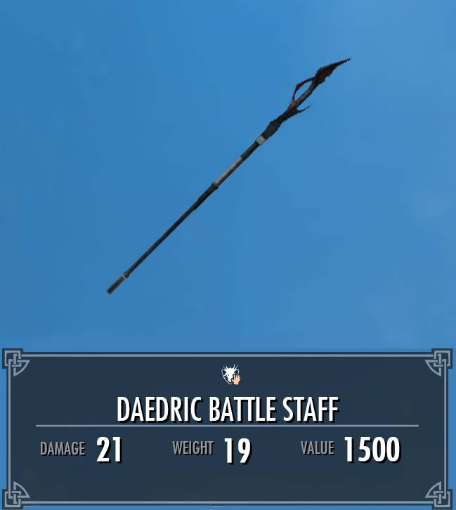 Daedric Battle Staff