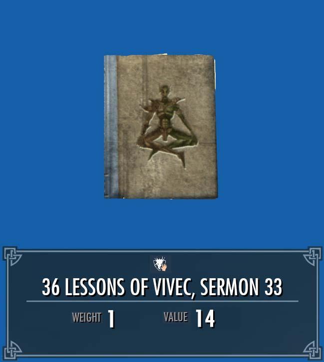 36 Lessons of Vivec, Sermon 33