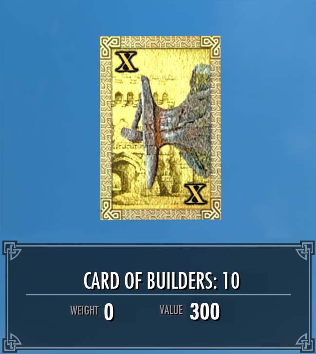 Card of Builders: 10