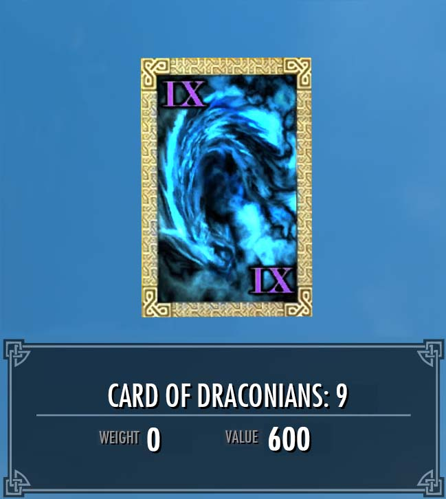 Card of Draconians: 9