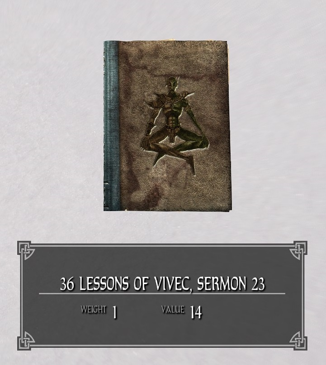 36 Lessons of Vivec, Sermon 23