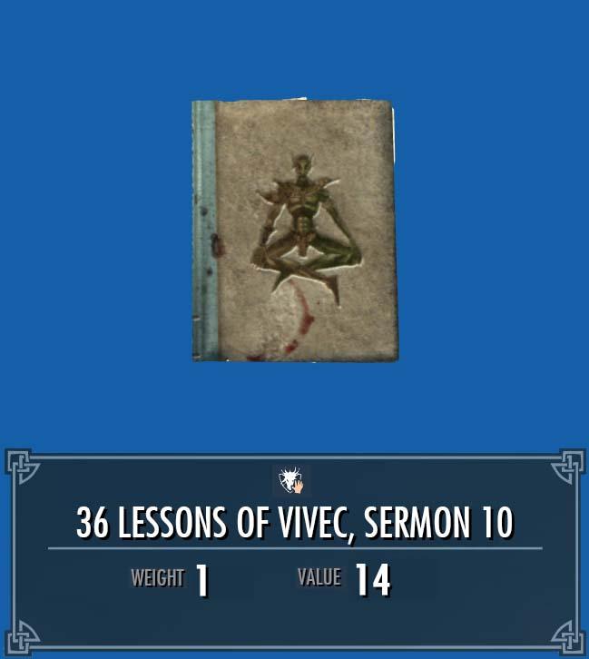 36 Lessons of Vivec, Sermon 10