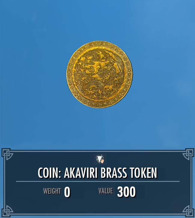 Akaviri Brass Token