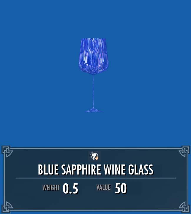Blue Sapphire Wine Glass