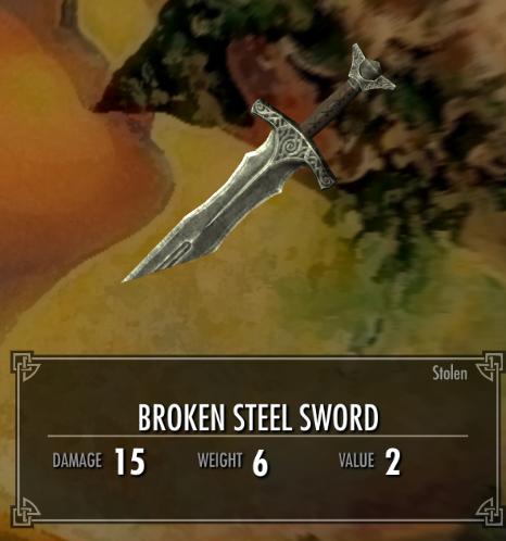 Broken Steel Sword