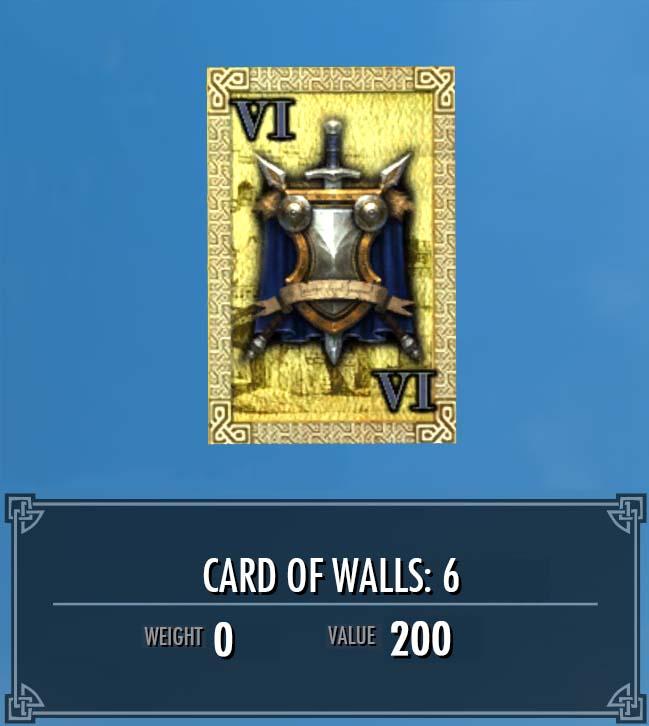 Card of Walls: 6
