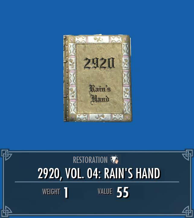 2920, Vol. 04: Rain's Hand