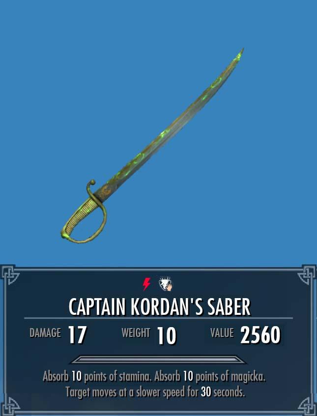 Captain Kordan's Saber